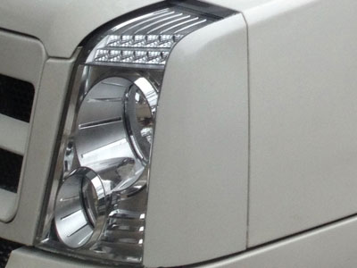 Traveller front, rear & roof light settings
