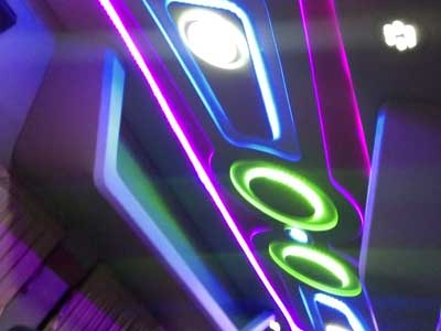 Tempo traveller interior roof design